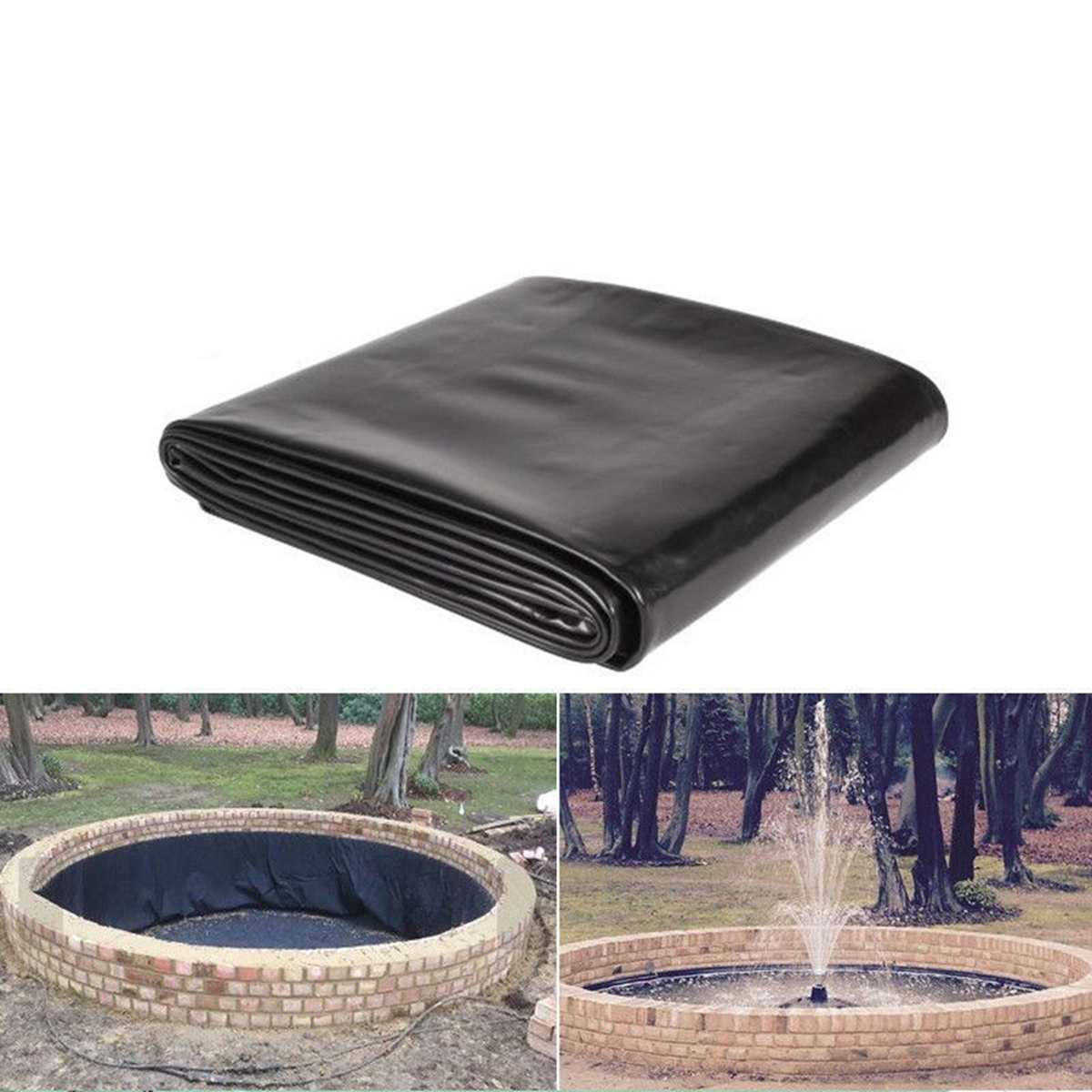 New 5x10 Ft Fish Pond Liner Garden Pools Reinforced HDPE