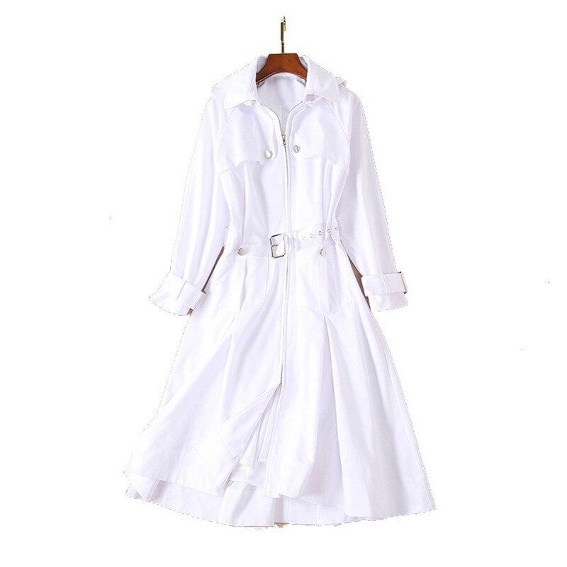 Manches Casual Lâche A ewq 2019 ligne Vêtements Ourlet Femme Manteau Oe218 Col Zipper Femmes Robes Capuche Nouveau Printemps Longues W1qFawY1