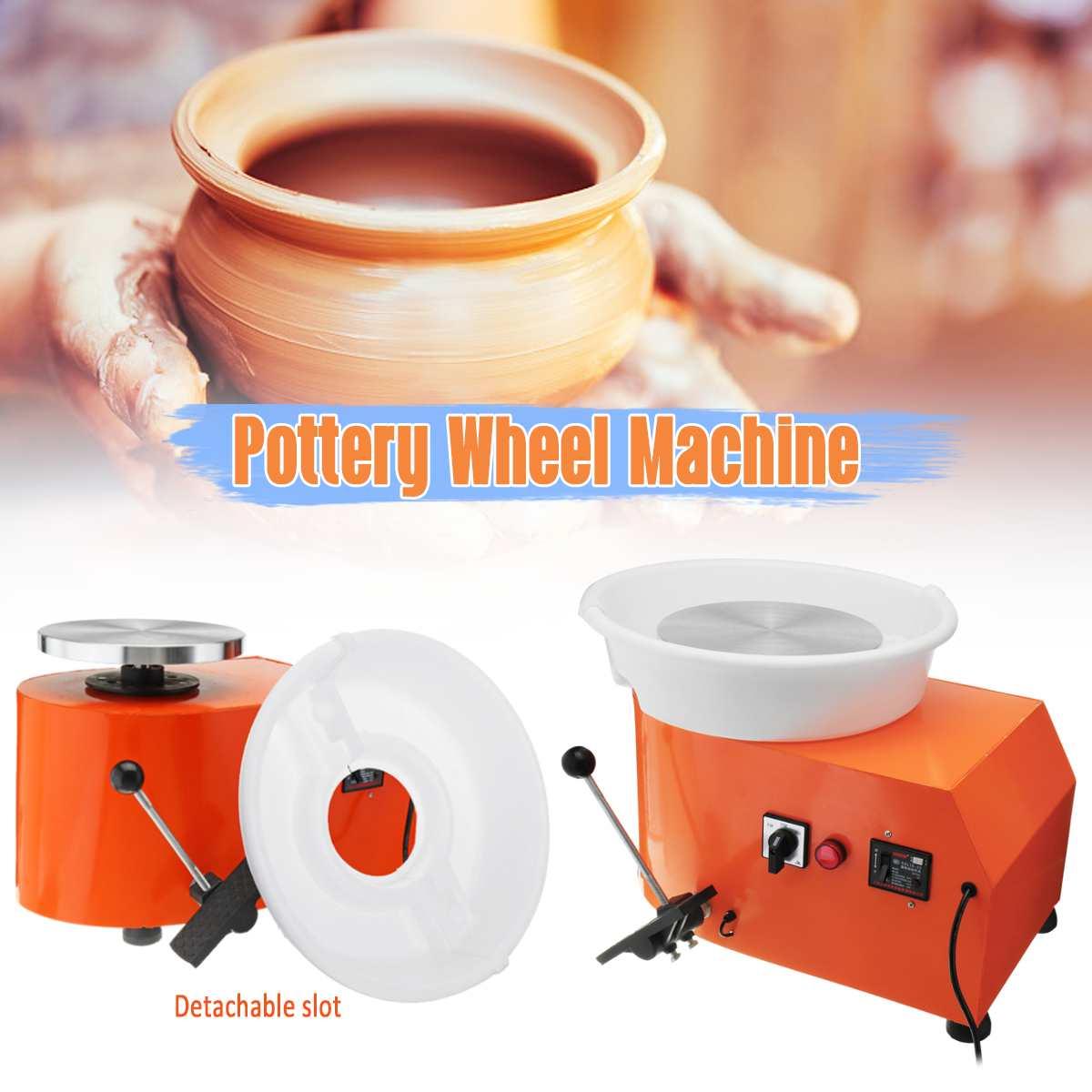 Poterie roue détachable Machine 350 W céramique travail argile artisanat Art pédale 110/220 V US/AU/EU Plug Flexible détachable lisse
