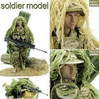 12 Inch Sniper Soldier Model Police Toy Special Forces Army Military Multi accessory Model Military Equipment Children's Toys