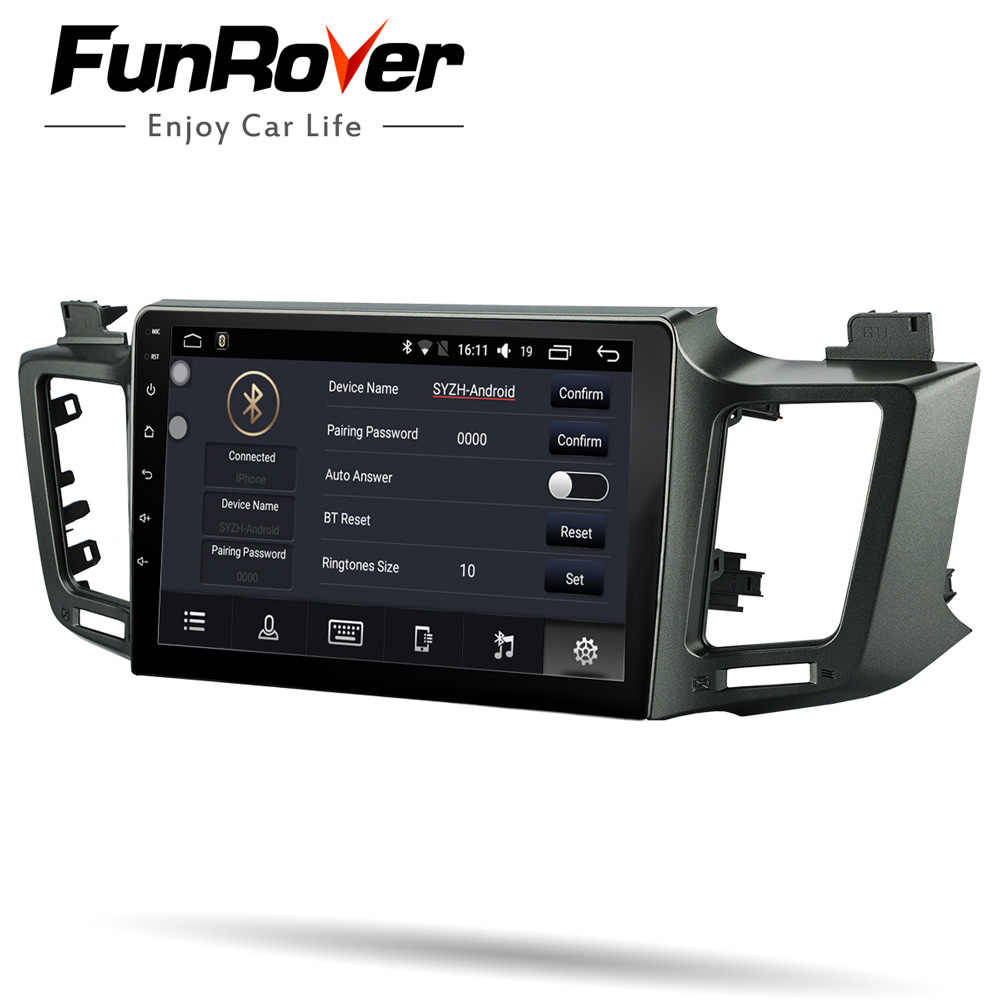 Funrover Car Multimedia Player Android 8 0 2 Din Dvd For Toyota Rav4 2017