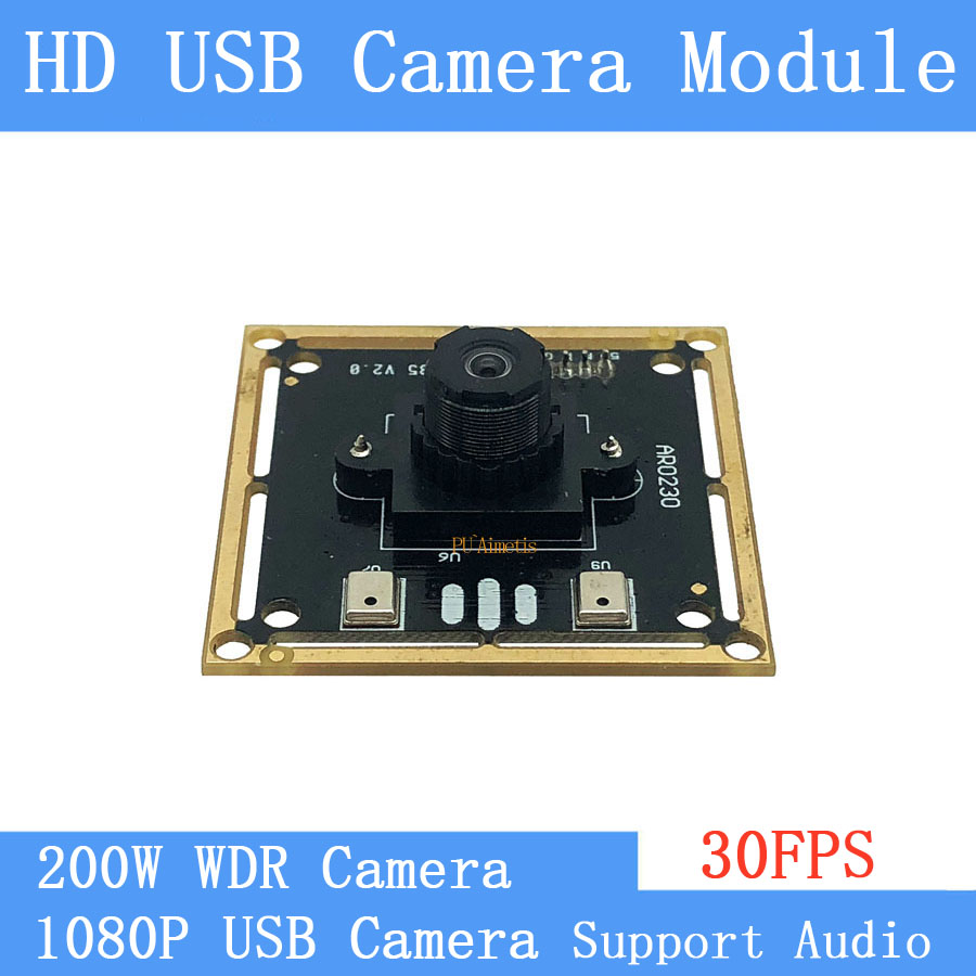 CCTV Camera Barcode Scanning 2MP HD 1080P OTG Webcam UVC Plug Play Driverless MJPEG 30FPS WDR USB Camera Module Support Audio