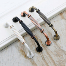 Cabinet Handles And Knob Rome Column Antique Simple Furniture Drawer Knobs For Kitchen Door Pulls Bronze 96mm/128mm