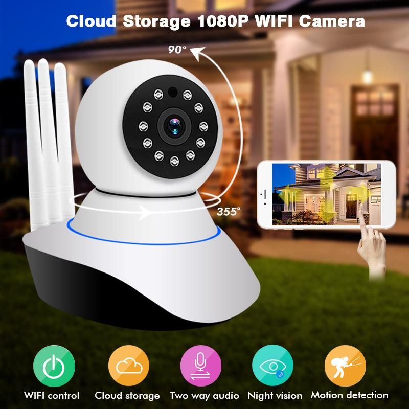 1080 P caméra intérieure de sécurité Wifi Caméra Sans Fil À Domicile Vidéo Surveillance Caméra CCTV vision nocturne Deux-Way Audio moniteur pour bébé