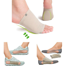 Gel Orthotic Insole Protector Foot Brace Pain Relief Silicone Arch Supp