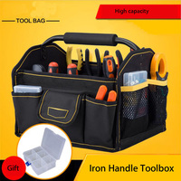 Oxford Cloth Electrician Tool Bags Thicken Hardware Professional Electrician Repair Storage Work Bag Holder Close Top Wide Mouth