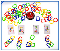 3D Puzzle children's toys ring to pull the manual brain game toys
