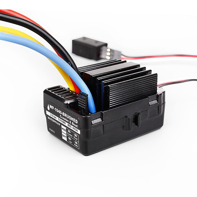 RC Crawler 1040 60A Waterproof Brushed ESC  Controller for Hobbywing Quicrun Car boat Motor  Traxx as