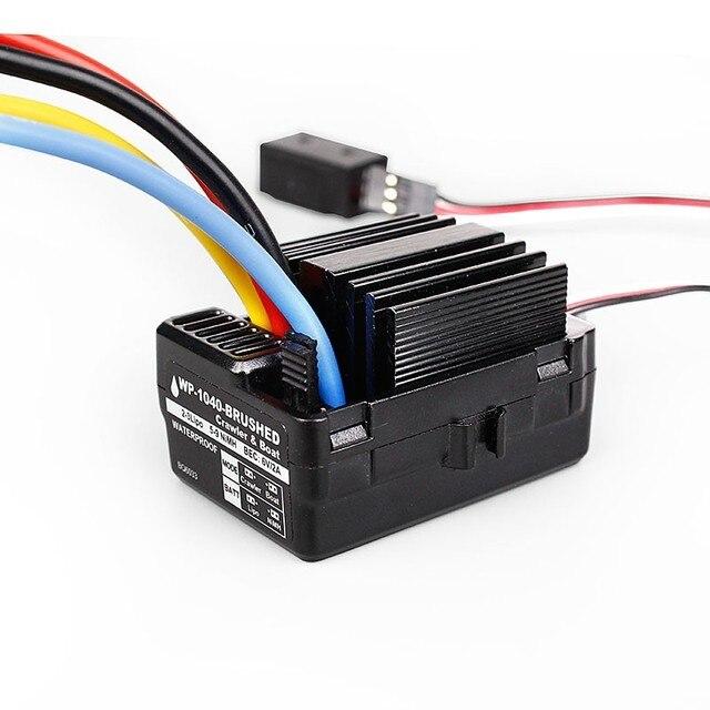 RC oruga 1040 60A impermeable cepillado ESC controlador para Hobbywing Quicrun coche barco Traxxas