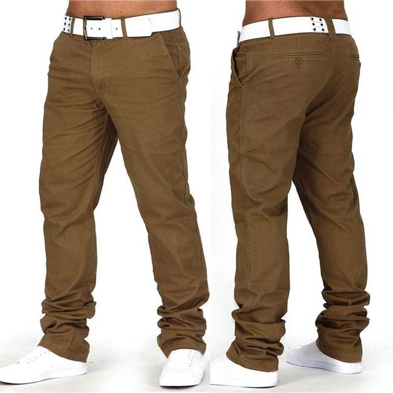 79bc81fdc75e Cheap INCERUN 2019 pantalones lisos hombres Casual Chinos pantalones jogging  Slim Fit Man Chinos pantalones Moda