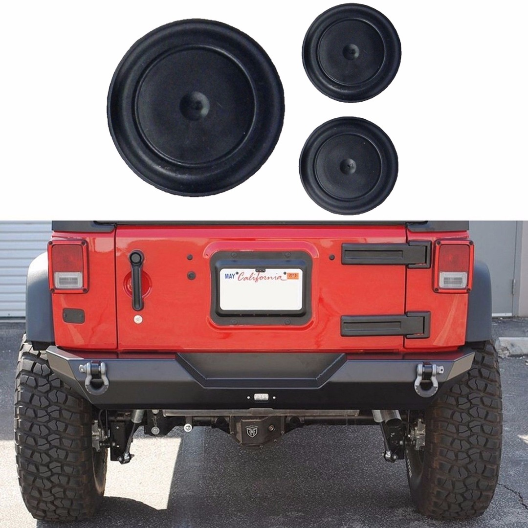 Back To Search Resultsautomobiles & Motorcycles Temperate Jx-lclyl 3x Rubber Plug Set For Wrangler Jk Tailgate Tramp Stamp Tire Carrier Delete Exterior Parts