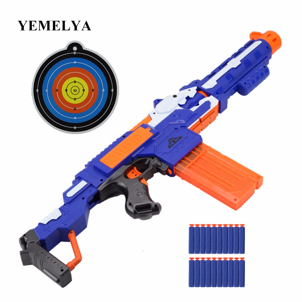Pistolet à balle molle électrique pour tirer une arme de mitraillette molle pour tirer des jouets pour enfants