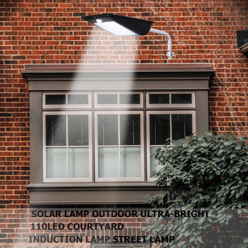 110 LED Solar Motion Sensor Garden Wall Light 3 Modes Waterproof Outdoor Courtyard Street Security Lamp110 LED Solar Motion Sensor Garden Wall Light 3 Modes Waterproof Outdoor Courtyard Street Security Lamp
