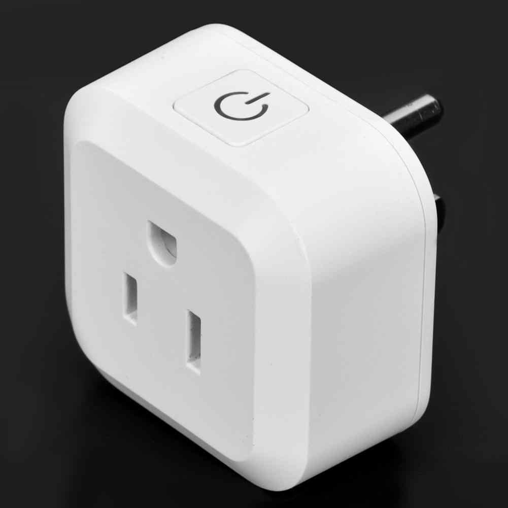 100-250 V Wifi Mini bezprzewodowy inteligentny gniazdo zasilania obsługa głosowa aplikacji zdalnego sterowania urządzenia gospodarstwa domowego nowy