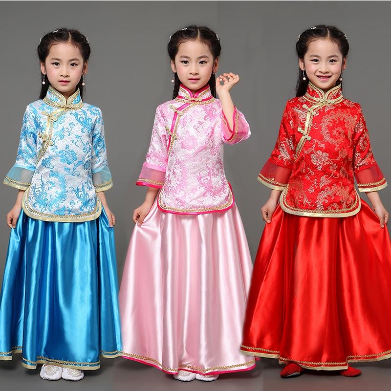 Mother Daughter Family Match Costume Princess Costume Modern Chinese Cheongsam Cheongsam Top and Skirt Two Piece Set