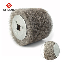 100mmx120mm Wire Drawing Polishing Burnishing Wheel Deburring Abrasive tool Stainless Steel Wire for Electric Striping Machine