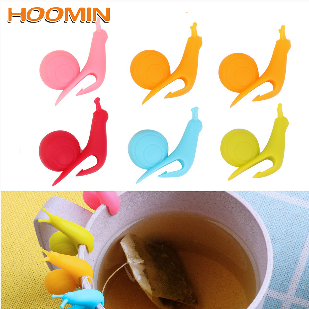 1 pcs Creative Cute Snail Silicone Tea Bags Hanging Cup Clip Tea Tools Popular