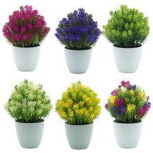 1Pc Small Potted Artificial Plant Mini Pine Tree Fake Plants Greenery Bonsai Stage Garden Wedding Party Decoration Decor