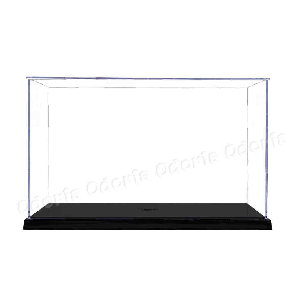Odoria Caja de exhibición acrílica 31,2 cm de largo Perspex caja de montaje a prueba de polvo escaparate para 1:24/1:25 nos ES de la UE