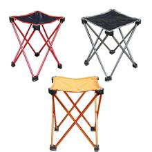 Portable Outdoor Folding Stool Lightweight Aluminum Alloy Square Slack Chair for Camping Mountaineering Hiking Travel Beach