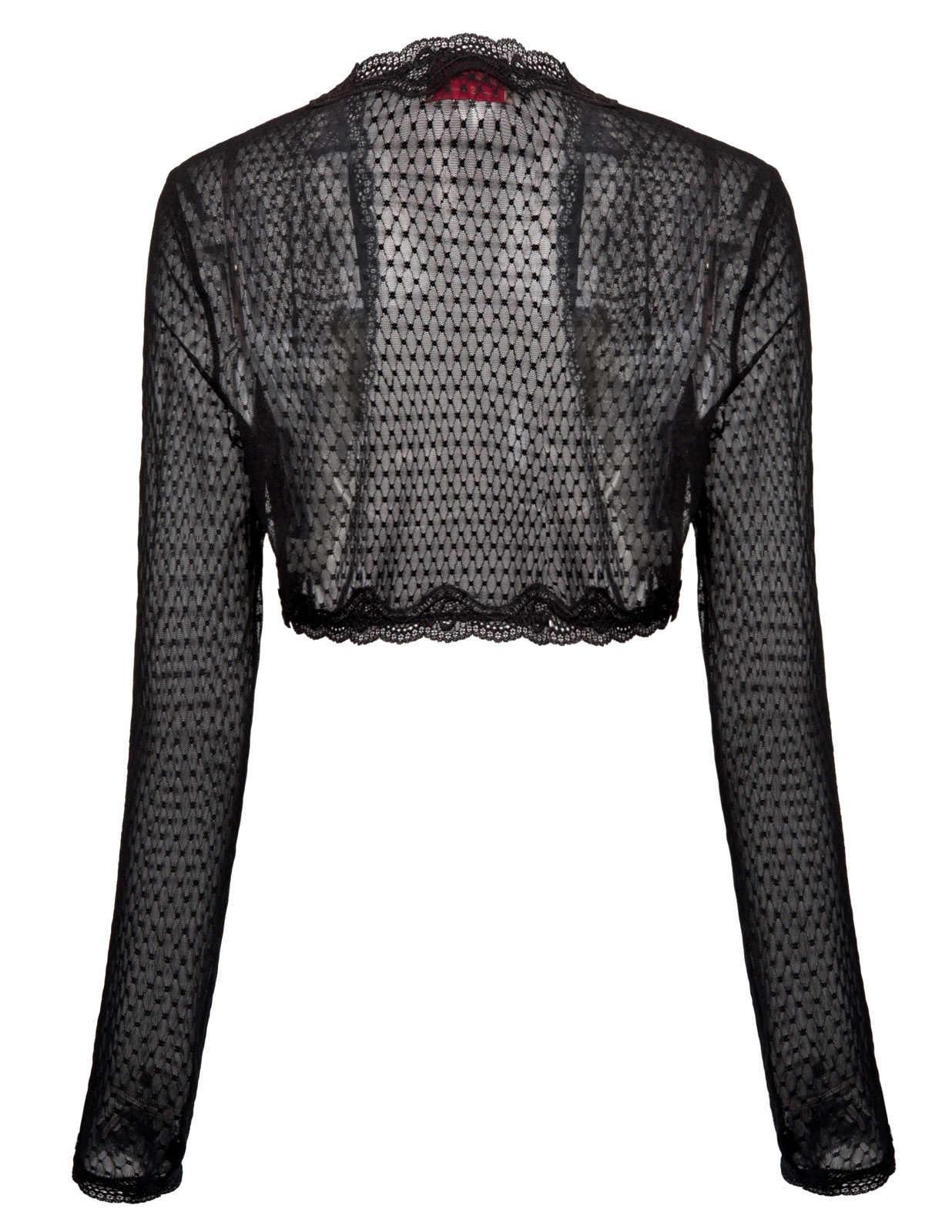 Женские кружевные болеро с длинным рукавом, кардиган, кроше, прозрачная укороченная куртка