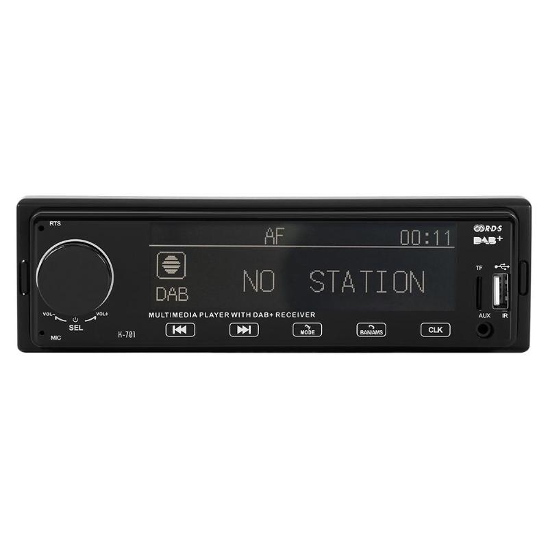 SWM K701 DAB autoradio lecteur MP3 Bluetooth RDS AUX AM FM récepteur Radio RCA Audio numérique diffusion Audio dans l'unité de tête de tableau de bord