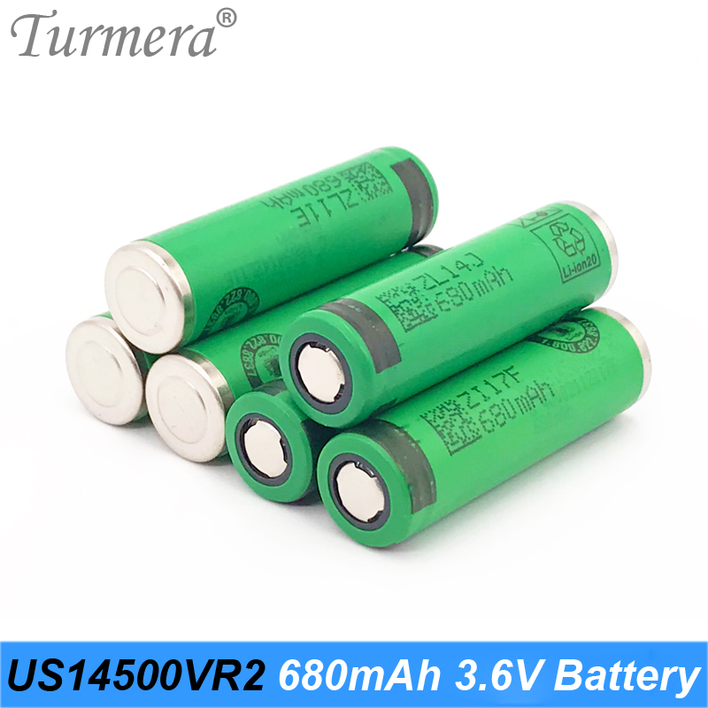 14500 battery flashlight 680mah US14500VR2 AA battery size for sony electronic toothbrush for Turmera 14500 battery a15 image