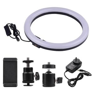 Image 4 - 11.8in 2700 5500K 24W 180Pcs Led Video Ring Licht Fill In Lamp Dimbare + Telefoon houder 2 Stuks Bal Koppen Voor Fotografie Verlichting