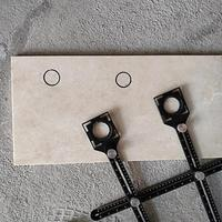 Multi-furo ajustável ângulo régua broca guia de vidro telhas carpintaria calibre