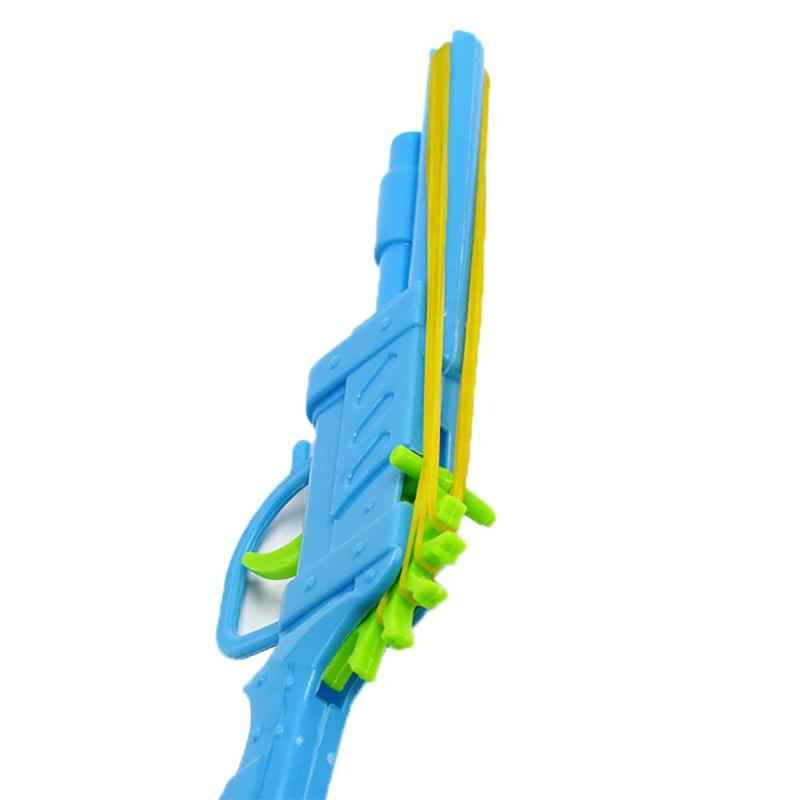 Capretti del bambino di Plastica di Gomma Della Fascia Pistola Stampo A Mano Pistola di Tiro Del Giocattolo per I Bambini Che Giocano Giocattolo Mini pistola blocchi di regalo per bambini