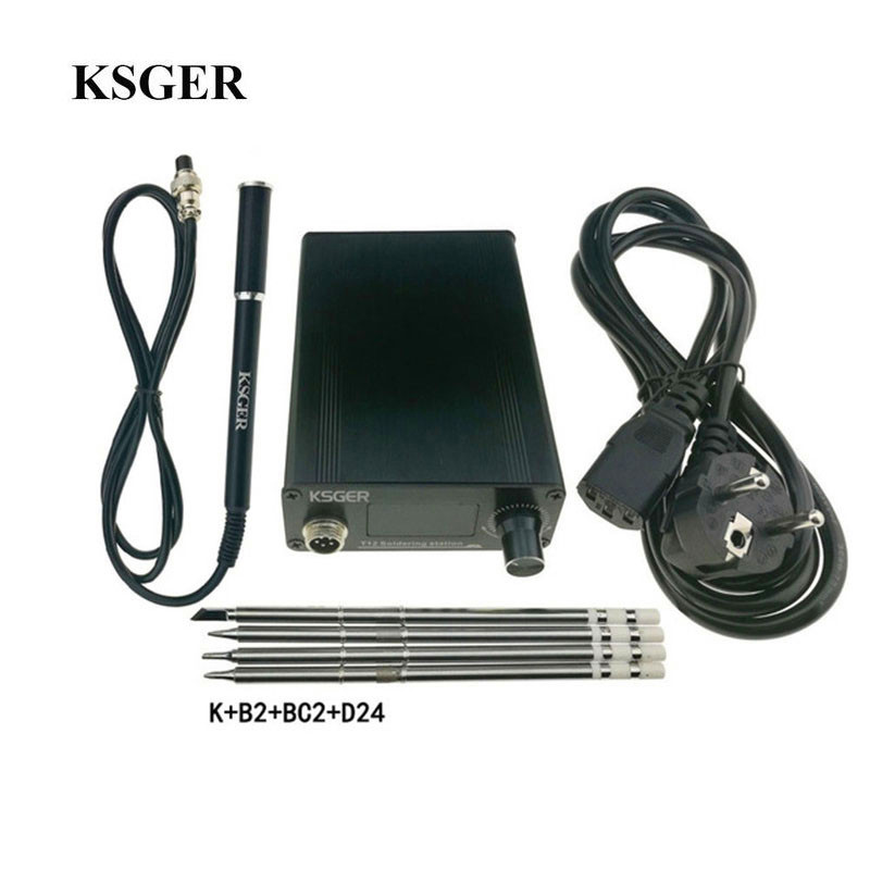 KSGER V2 01 T12 Temperature Controller Soldering Station Welding Tool Electric Soldering Irons 9501 Alloy Handle