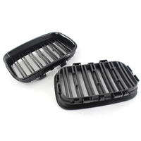 2pcs set Grilles Gloss Black Front Kidney For 1992 1996 BMW E36 318i Replacement Car Front & Radiator Grills