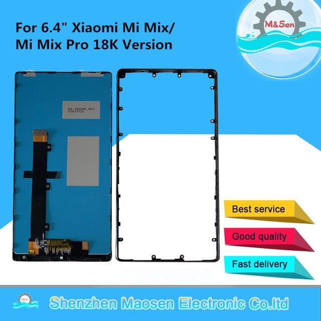 """Оригинальный 6,4 """"M & Sen для Xiaomi Mi Mix /Mi Mix Pro 18k версия керамическая средняя рамка ЖК экран дисплей + сенсорная панель дигитайзер Рамка"""