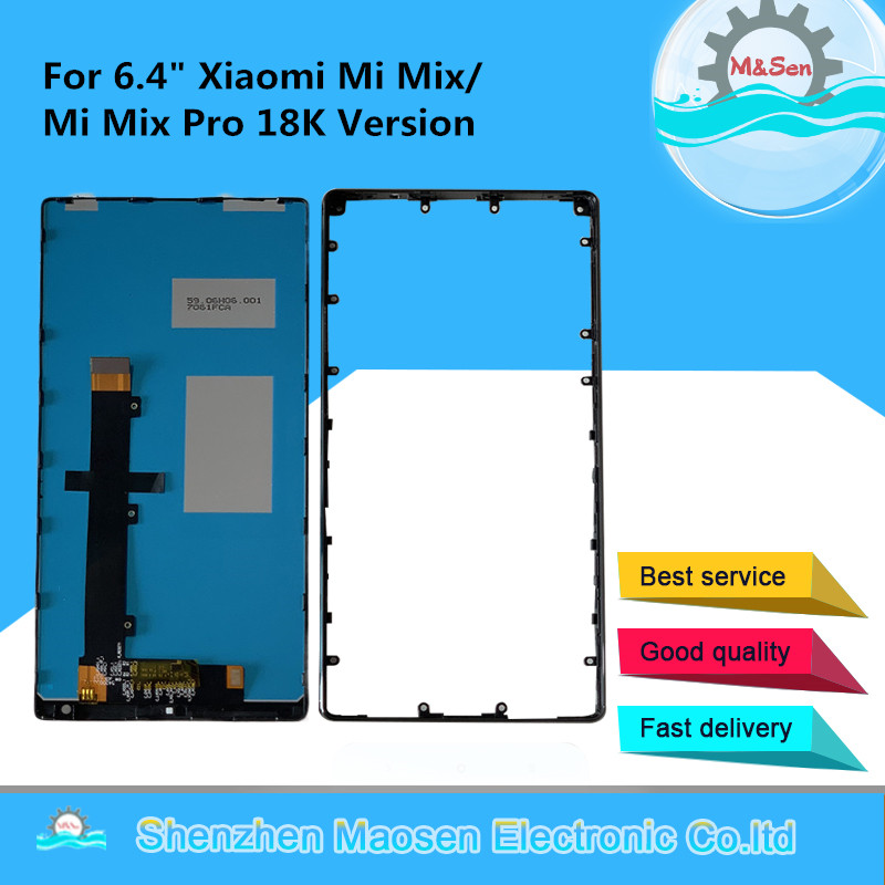 """M&Sen For 6.4"""" Xiaomi Mi Mix /Mi Mix Pro 18k Version Ceramic Middle Frame LCD Screen Display+Touch Panel Digitizer With Frame"""
