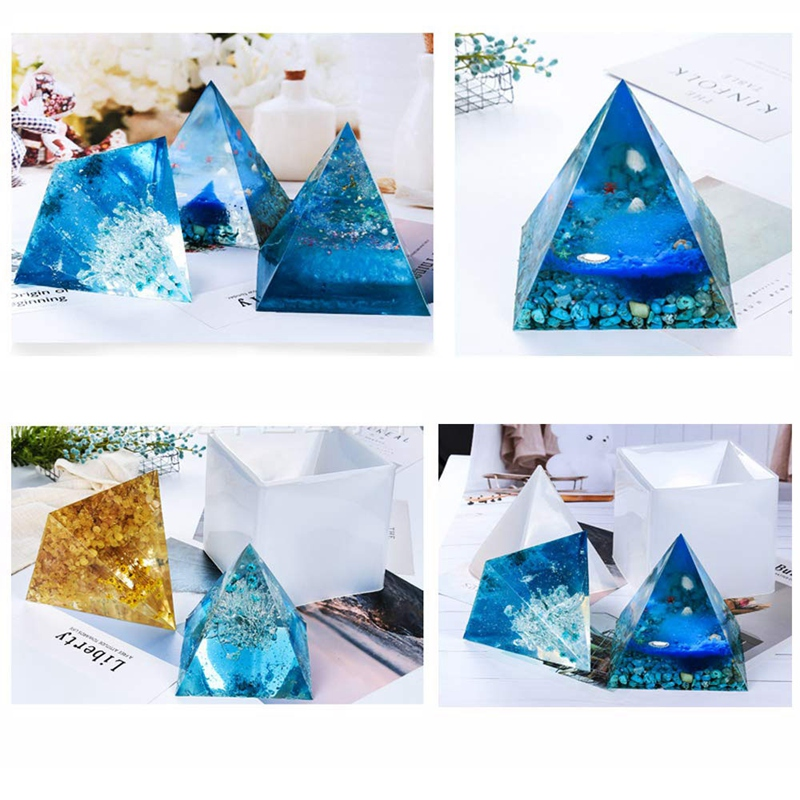 Large Resin Molds Silicone Pyramid Molds,Epoxy Resin Molds Including  Pyramid Molds And Crystal Jewelry Casting Molds, Pyramid