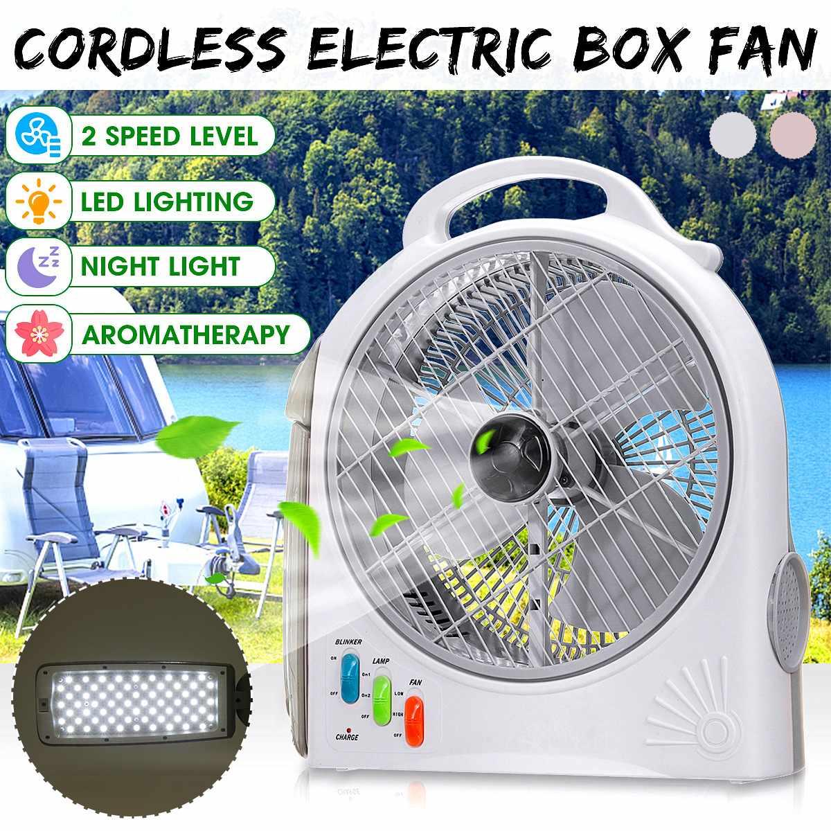 Mini ventilateur électrique Portable 220 V Rechargeable Li-ion batterie ordinateurs de bureau multifonctionnel extérieur Camping lumière LED refroidisseur d'air ventilateur