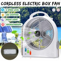 Portable Mini Electric Fan 220V Rechargeable Li ion Battery Desktops Multifunctional Outdoor Camping LED Light Air Cooler Fan