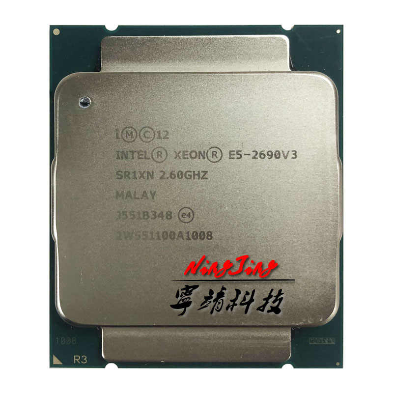Intel Xeon E5-2690 v3 E5 2690v3 E5 2690 v3 2.6 GHz Twelve-Core Twenty-four-Thread 30MB 135W CPU Processor LGA 2011