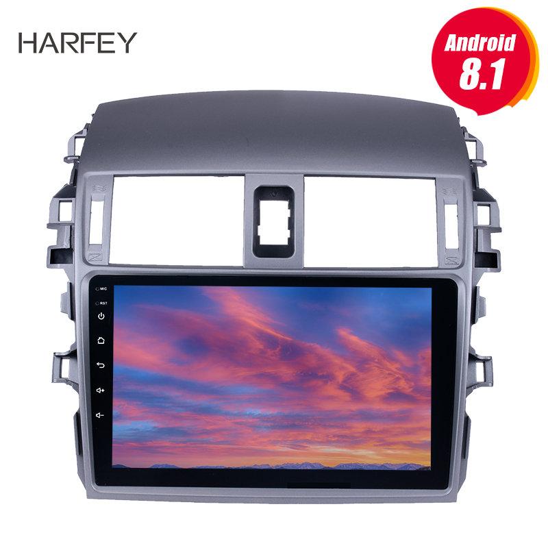 Harfey 9 inch 2din Android 8.1 Car Radio head unit WIFI Bluetooth <font><b>Multimedia</b></font> Player For 2007 2008-<font><b>2010</b></font> <font><b>Toyota</b></font> OLD <font><b>Corolla</b></font> stereo image