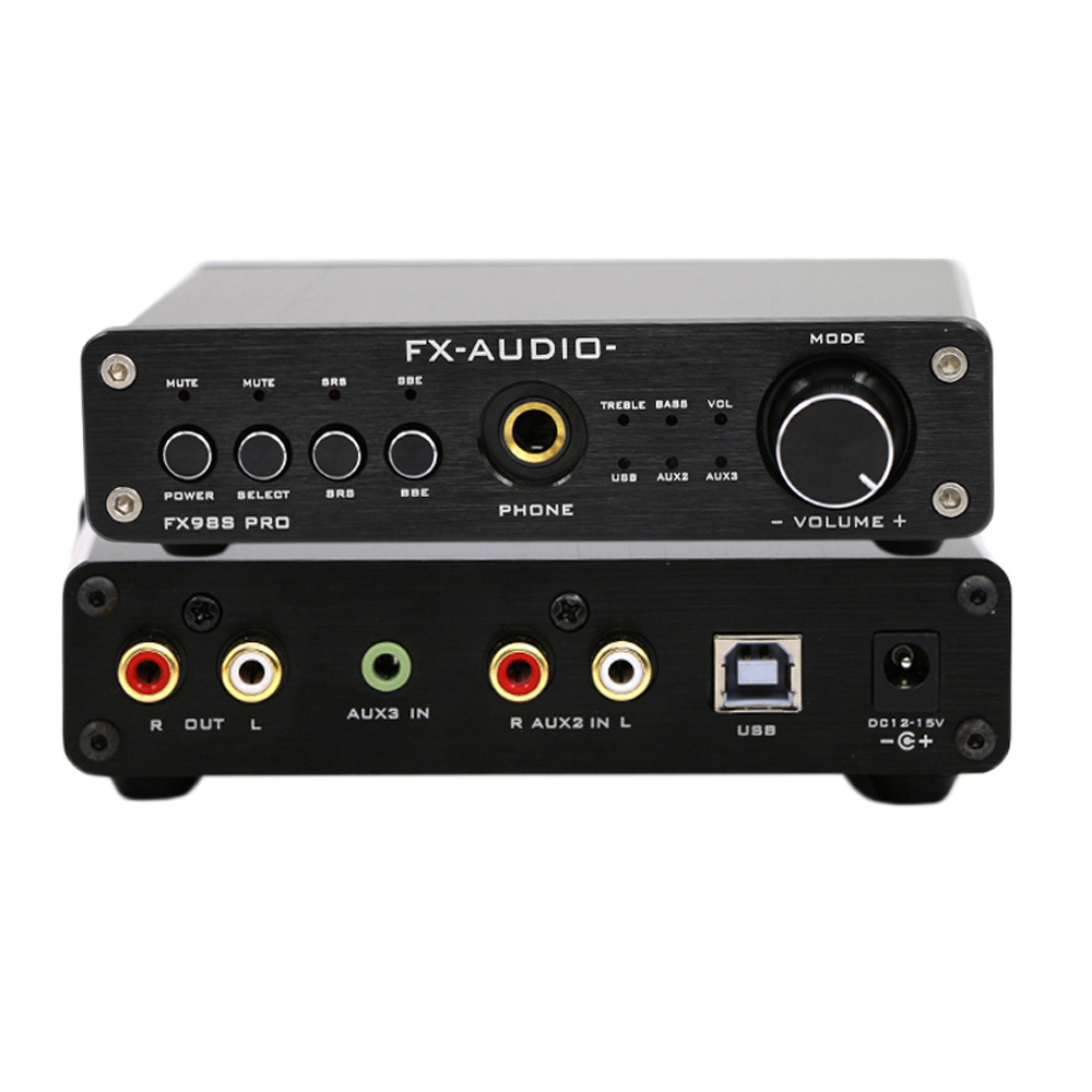 US $52 1 25% OFF|FX Audio FX 98S PCM2704 NJW1144 MAX9722 120W HIFI  Headphone Amplifier DAC USB Decoder Audio Sound Amplifier 12V 1A-in  Headphone