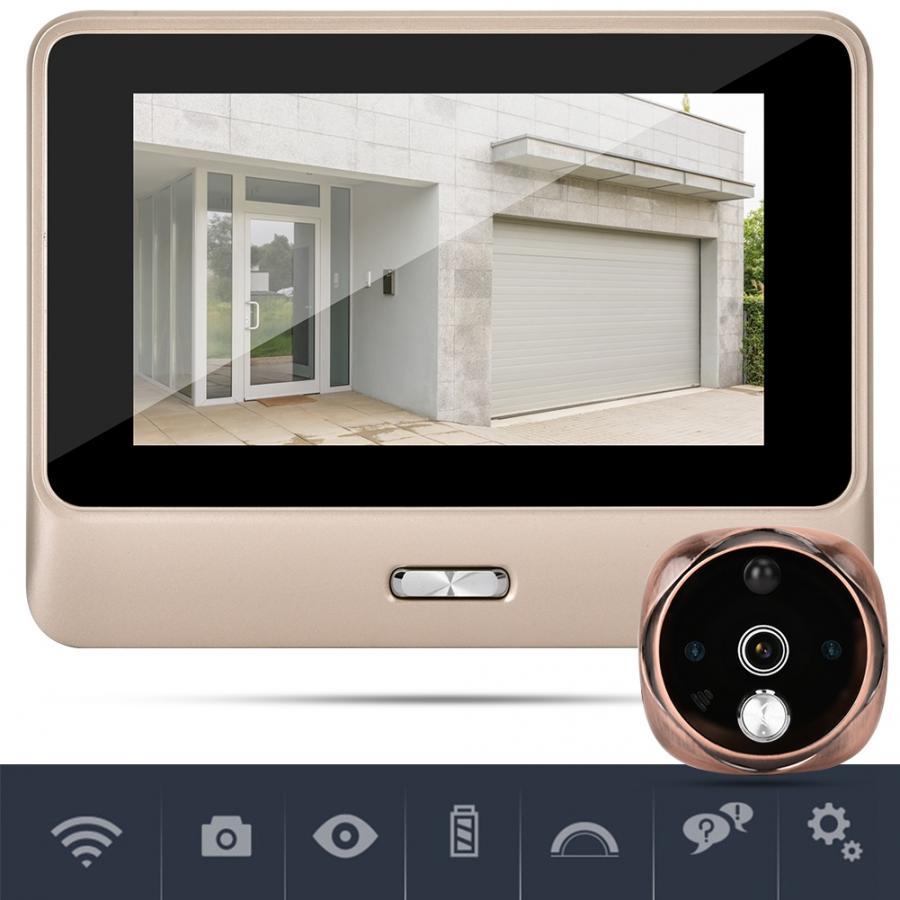"""100% QualitäT Türklingel Kamera 5 """"smart Wireless Katze Auge Visuelle Türklingel Remote Monitor Zwei-weg Intercom Türklingel Kamera"""
