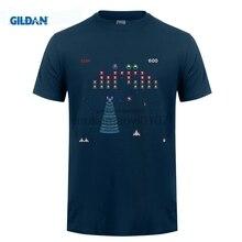 GILDAN GALAGA Arcade Game Retro Gamer Classic Mens Black T-Shirt Size S-2XL 100% Cotton Youth Round Collar T недорго, оригинальная цена