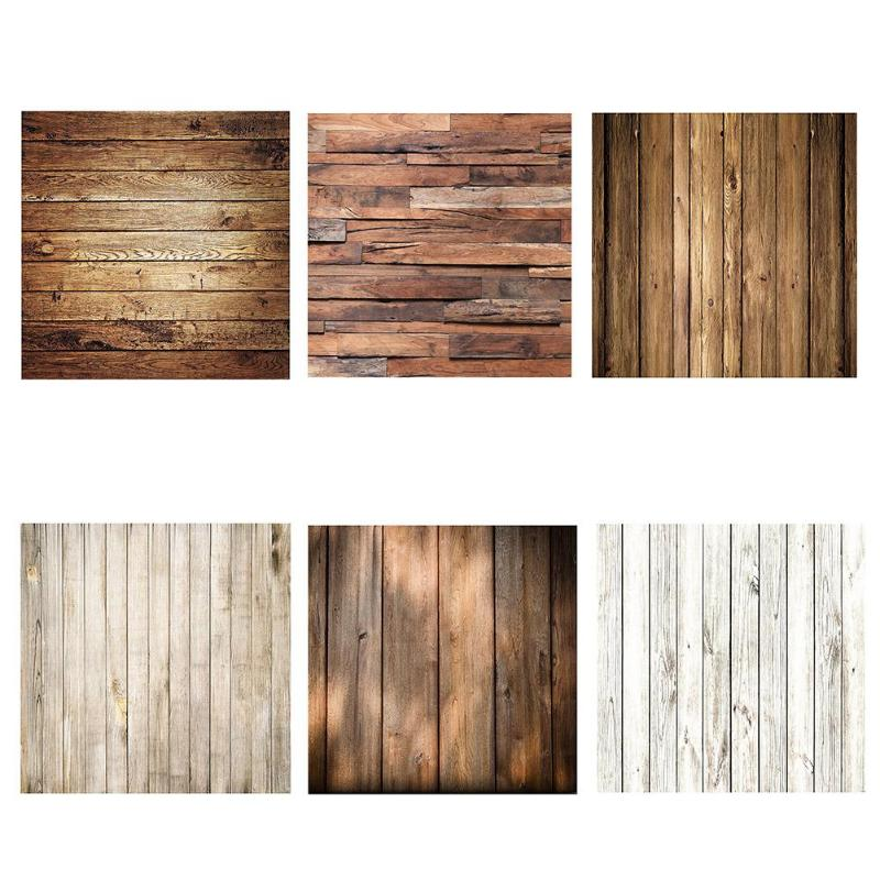 ALLOYSEED 60x60cm Retro Wood Board Texture Photography Background Backdrop Cloth Studio Video Photo Backgrounds Props For Food(China)