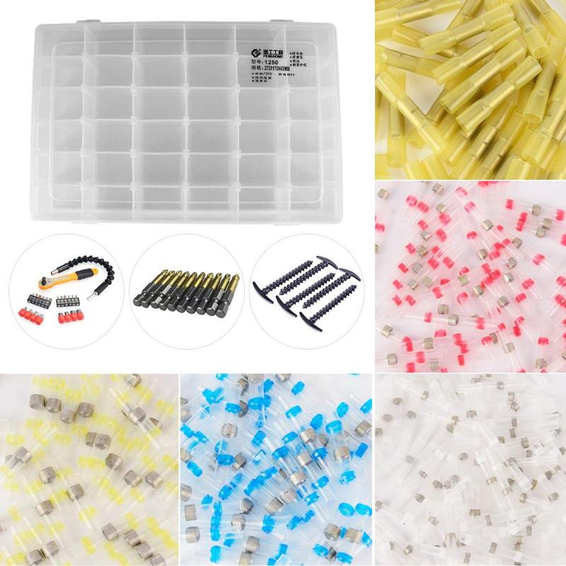 Adjustable Transparent Plastic Storage Box For Small Component Jewelry Tool Box Bead Pills Organizer Nail Art Tip Case