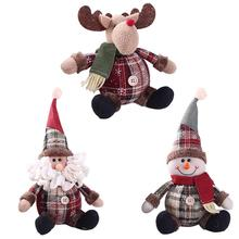 Cute Christmas Doll Toys Santa Claus Snowman Elk Christmas Tree Hanging Ornament Decoration for Home Xmas Party New Year Gifts