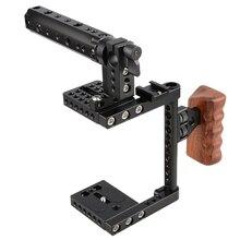 حامل قفص كاميرا CAMVATE مع مقبض علوي لوحة تثبيت ترايبود C1175