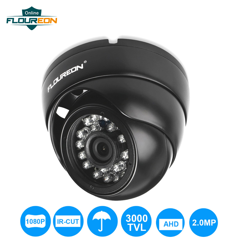 FLOUREON 1080P Camera 2.0MP 3000TVL CCTV AHD Analog Camera PAL Waterproof Surveillance Security Dome DVR Camera Night Vision