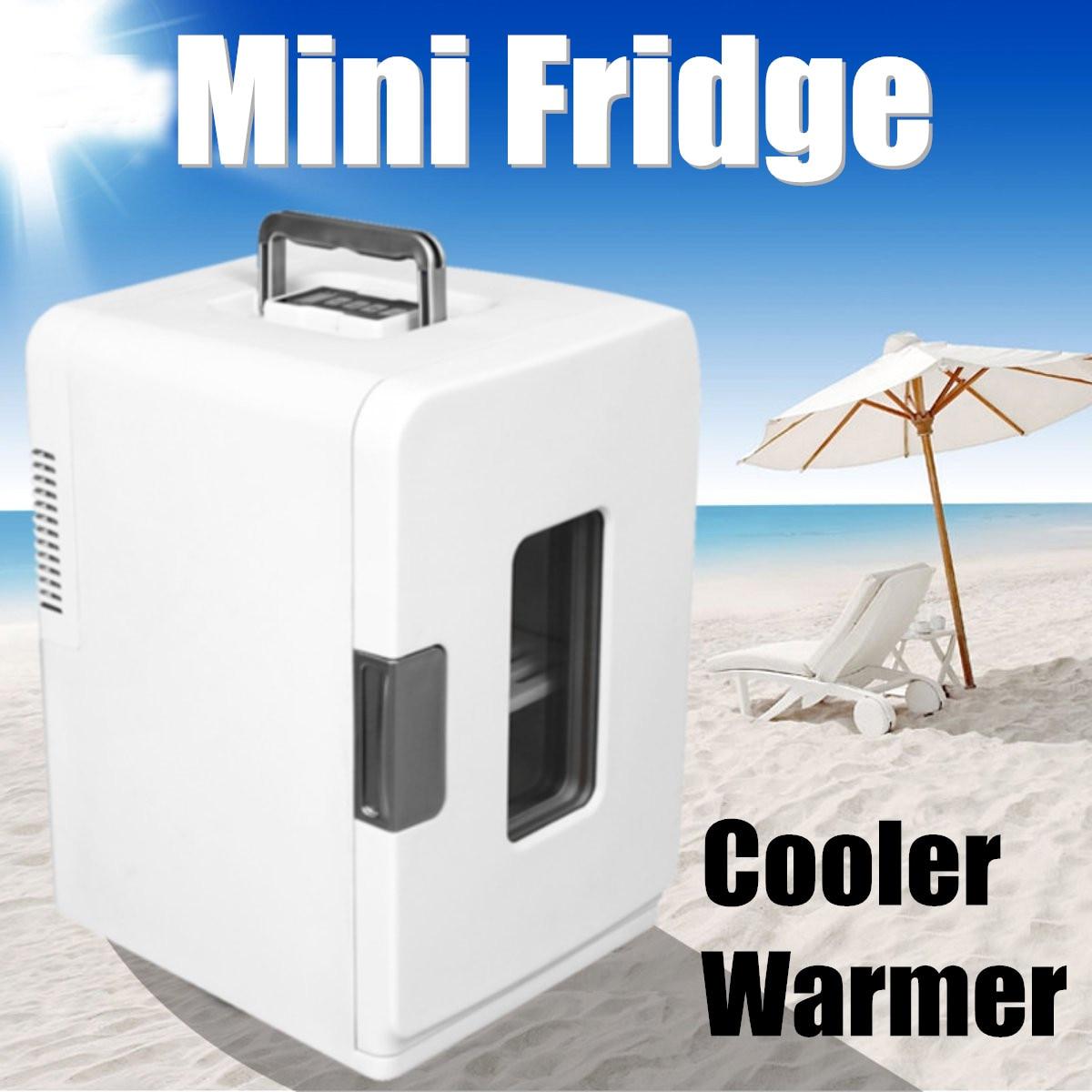 Портативный 15L путешествия автомобильный холодильник 12 в охладитель грелка кемпинг мини Электрический Холодильник Напитки Охладитель дом