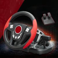 Гоночный Автомобиль Игровой руль пригодный для PC/PS3 геймпад 300 градусов вращения металл кожа моделируется вождения шок с педалью