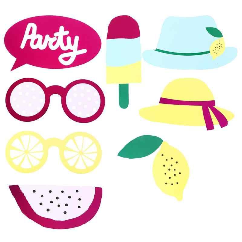 6 шт. летний комплект для фотобанк с фруктами в шляпе и очках, аксессуары для фотосъемки